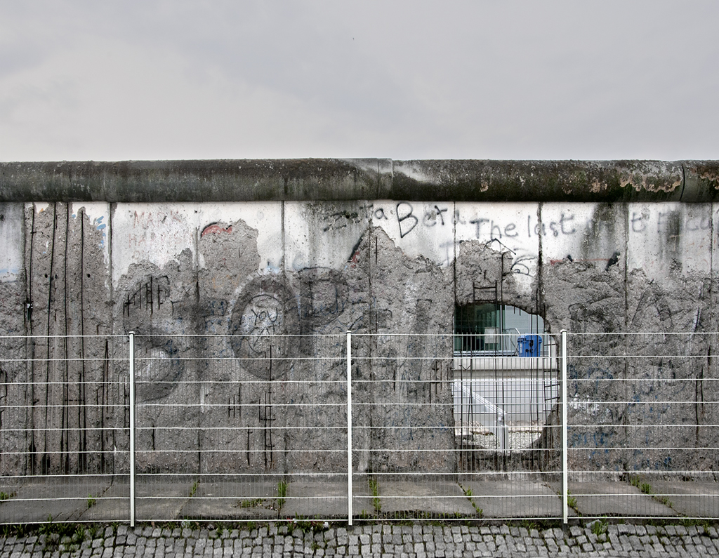The Berlin Wall, Detail 5, from The Wall, Niederkirchner Strasse, Berlin 2010 by Leslie Hossacl