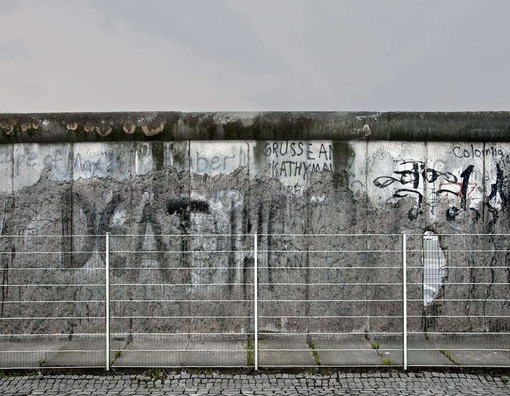 The Berlin Wall, Detail 6, from The Wall, Niederkirchner Strasse, Berlin 2010 by Leslie Hossack