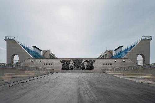 Swimming Stadium, Luzhniki Sports Complex, Moscow 2012 by Leslie Hossack
