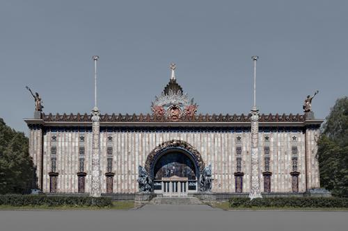 Ukraine Pavilion, Moscow 2012 by Leslie Hossack