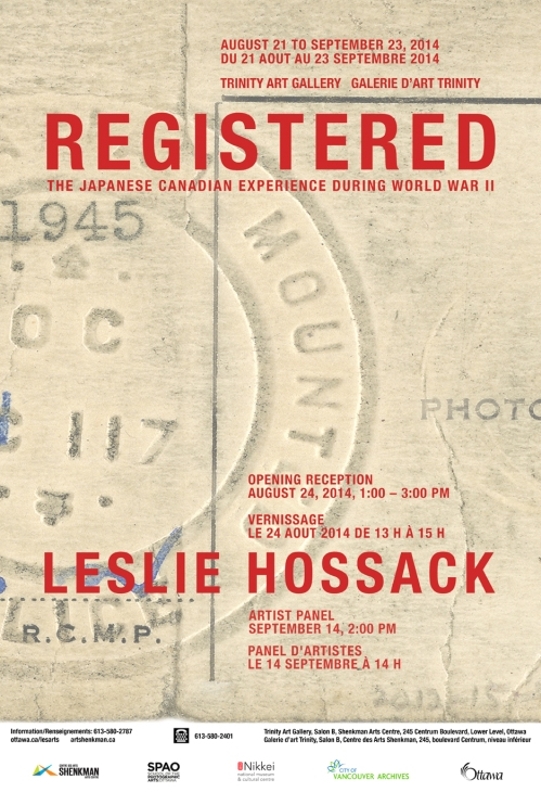 REGISTERED by Leslie Hossack