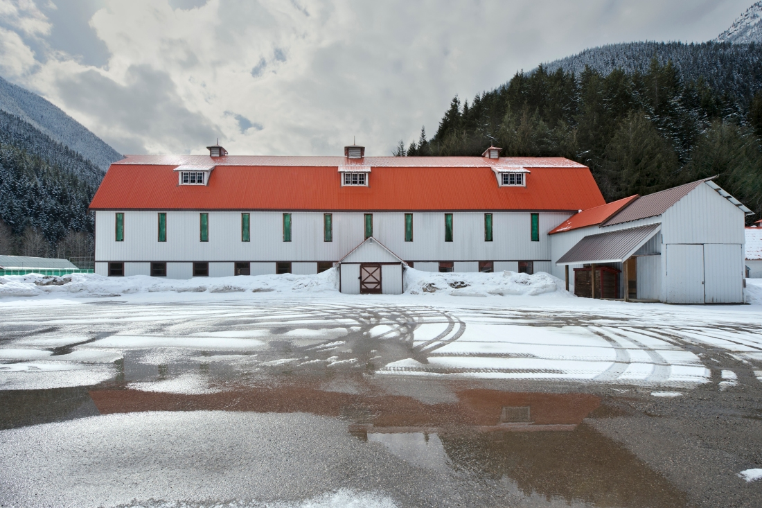 Large Barn, Site of Tashme Internment Camp, Sunshine Valley British Columbia, 2013  by Leslie Hossack