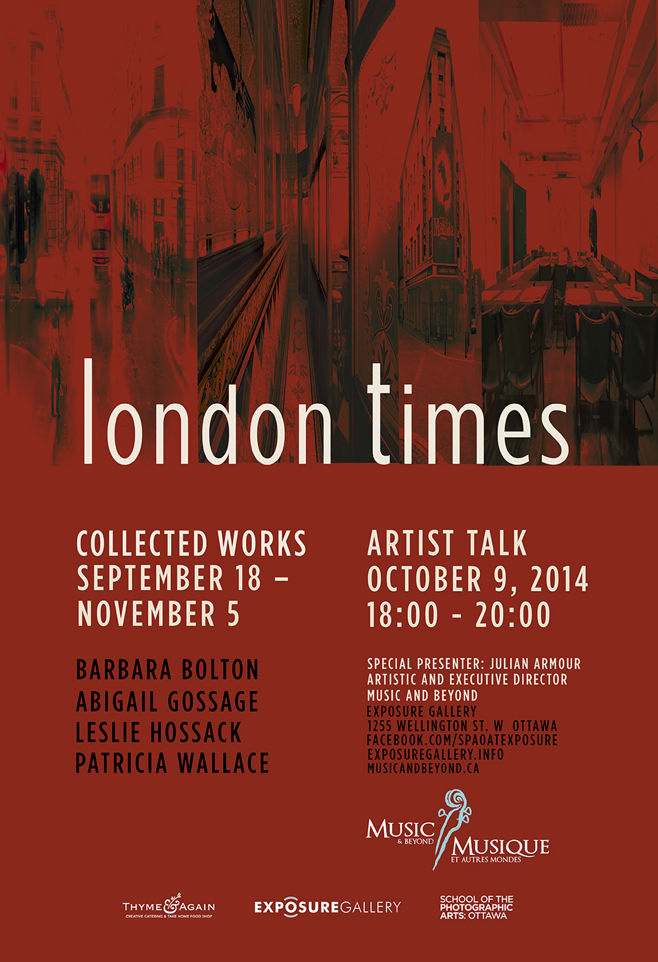 LONDON TIMES Artist Talk with Special Presenter Julian Armour of Music and Beyond