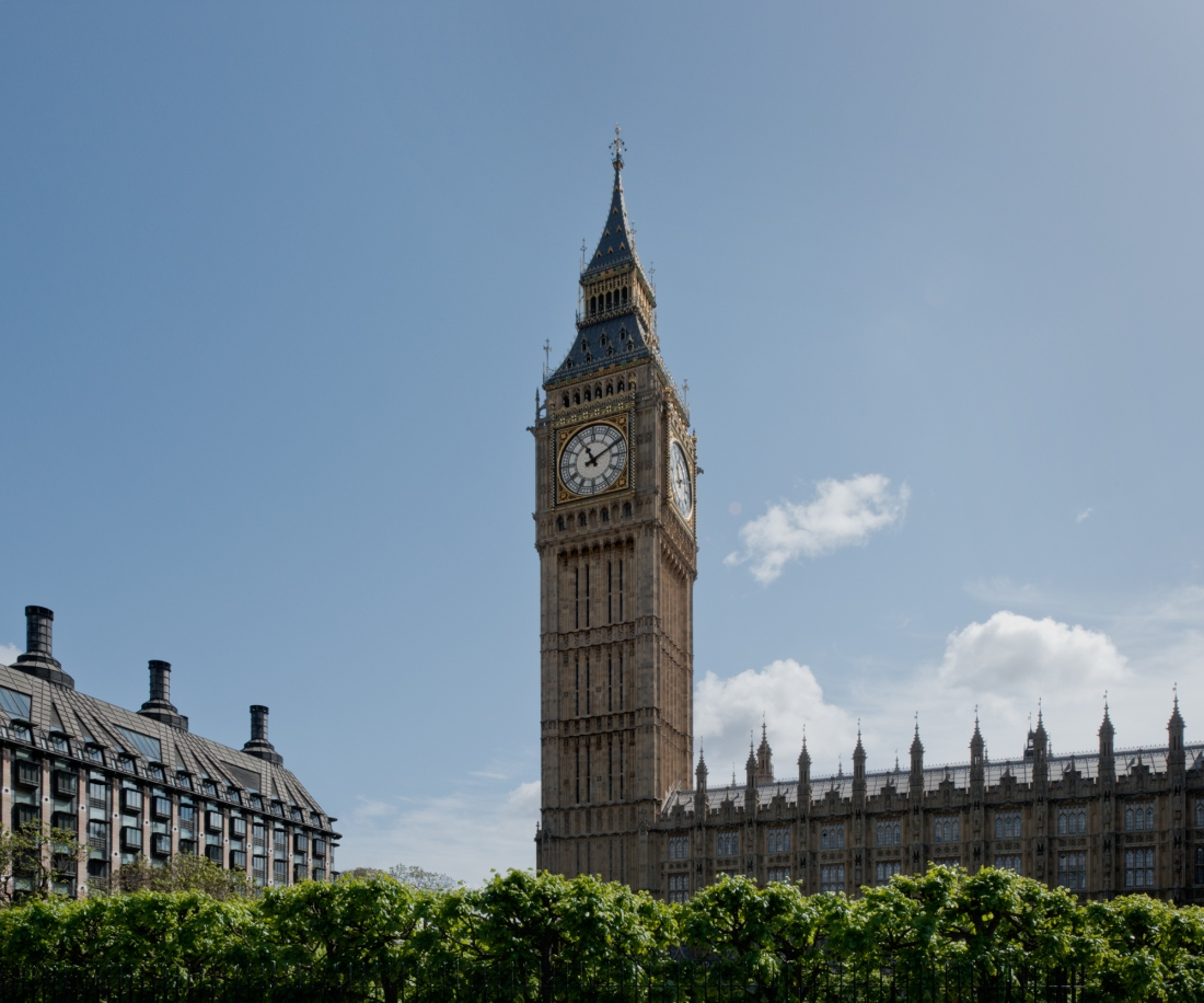 Big Ben, Elizabeth Tower, House of Commons, Houses of Parliament, London 2014 by Leslie Hossack