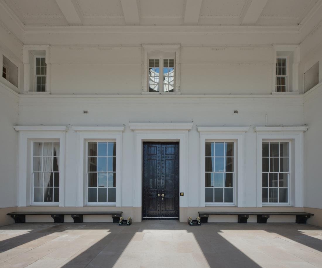 Grand Entrance, Old College, Royal Military College, Sandhurst 2014 by Leslie Hossack