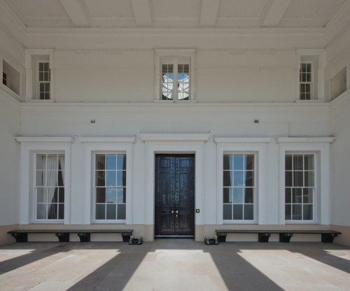 Grand Entrance, Old College, Royal Military College, Sandhurst 2014 by Leslie Hossack