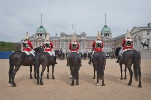 Horse Guards  Parade, London 2014 by Leslie Hossack