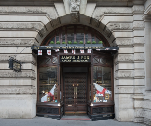 James J. Fox Cigar Merchant, 19 St. James's Street, London 2014 by Leslie Hossack