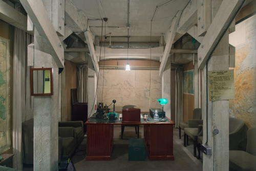 Churchill's Office, Cabinet War Rooms, Clive Steps, London 2014 by Leslie Hossack