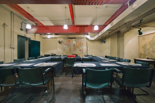 The Cabinet Room, Cabinet War Rooms, Clive Steps, London 2014 by Leslie Hossack