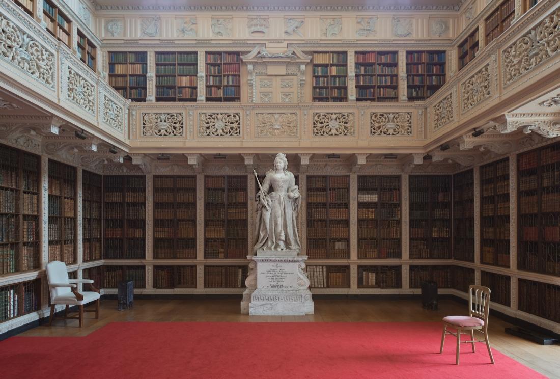 Long Library, Blenheim Palace, Woodstock 2014 by Leslie Hossack
