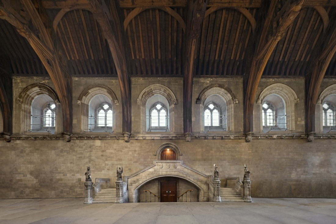 Westminster Hall, Houses of Parliament, London 2014 by Leslie Hossack