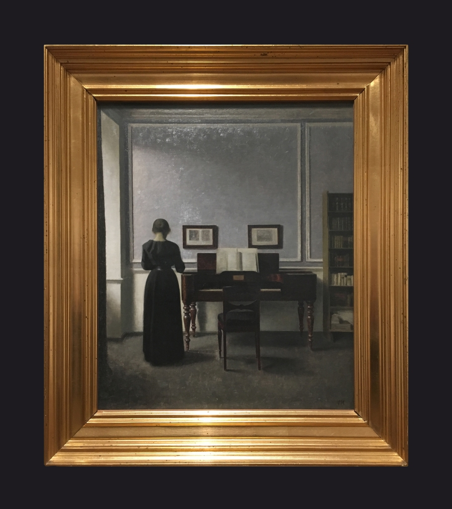 1901, Interior with Piano and Woman in Black by Leslie Hossack