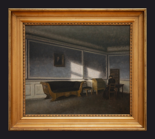 1910, Sunshine in the Drawing Room by Leslie Hossack
