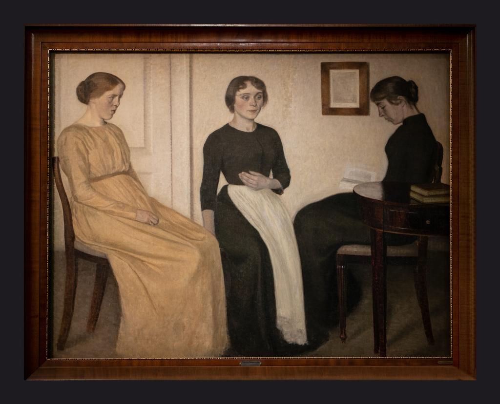 12 1895, Three Young Women, Trois Jeunes Femmes by Leslie Hossack