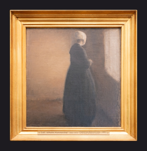 1885, An Old Woman Standing by a Window by Leslie Hossack