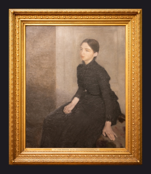 1885, Portrait of a Young Woman, the Artist's Sister Anna by Leslie Hossack