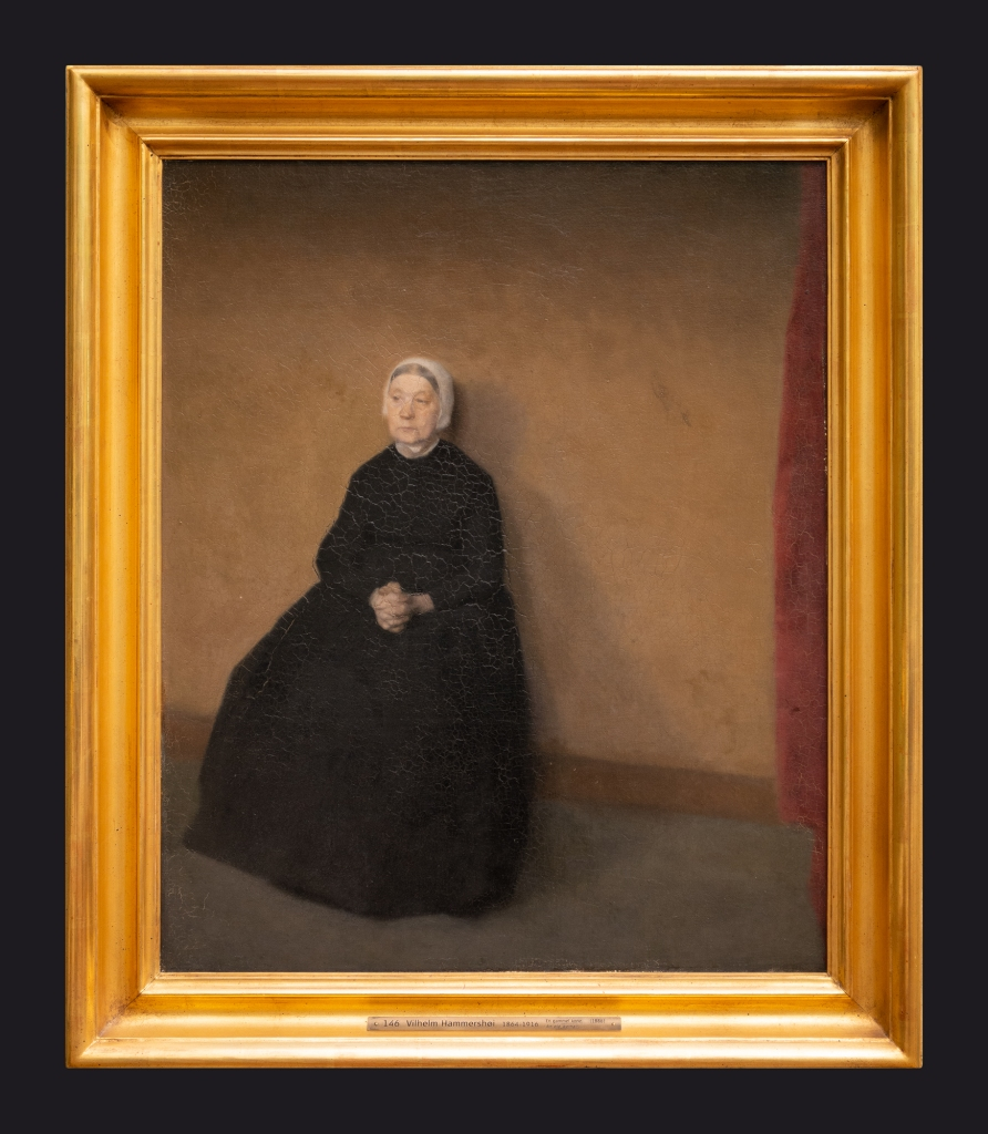 1886, An Old Woman Sitting by Leslie Hossack