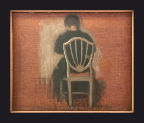 1889-1900, Woman Seated on a White Chair by Leslie Hossack
