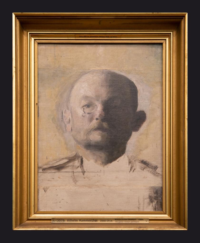 1889, Maleren Kristian Zahrmann, The Painter Kristian Zahrmann by Leslie Hossack