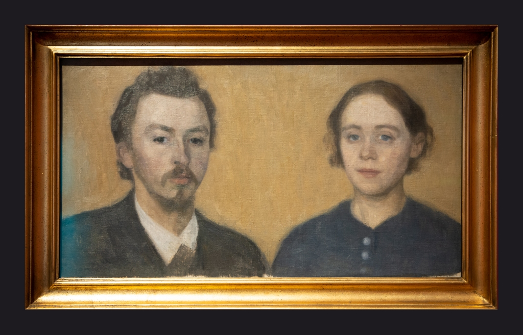 1892, Double Portrait of the Artist and His Wife, Paris by Leslie Hossack