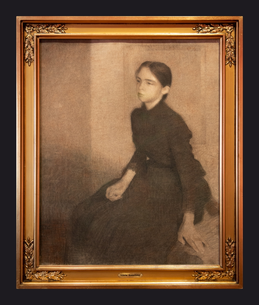 1896, Portrait The Artist's Sister Anna (drawn replica) by Leslie Hossack