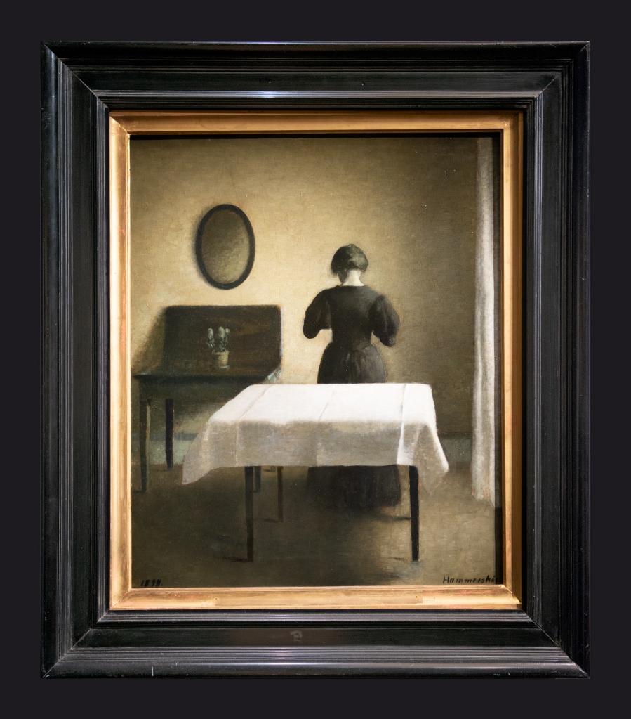21 1898, Intérieur avec une femme de dos by Leslie Hossack