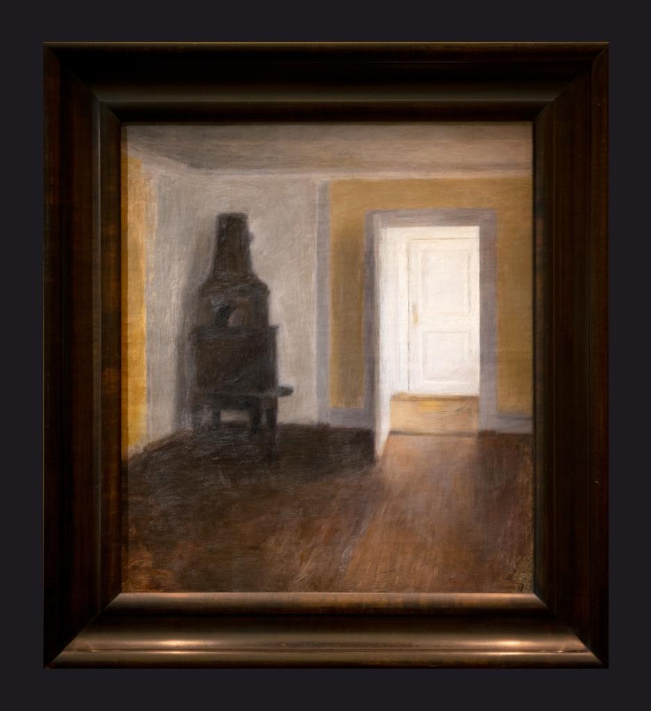 23 1888, La Porte blanche (interior avec au vieux poele) by Leslie Hossack