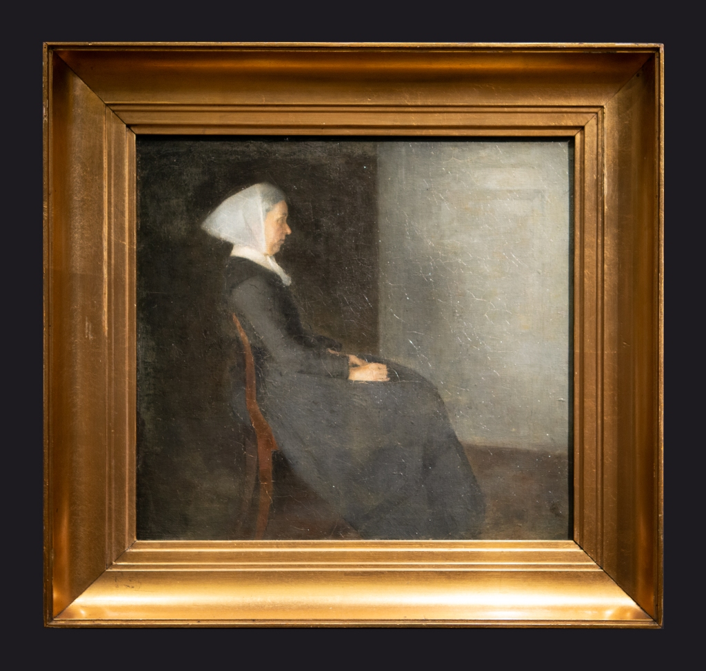 36 1886, Portrait of the Artist's Mother, Portrait de la mere de l'artiste; The Artist's Mother Frederikke Hammershøi by Leslie Hossack