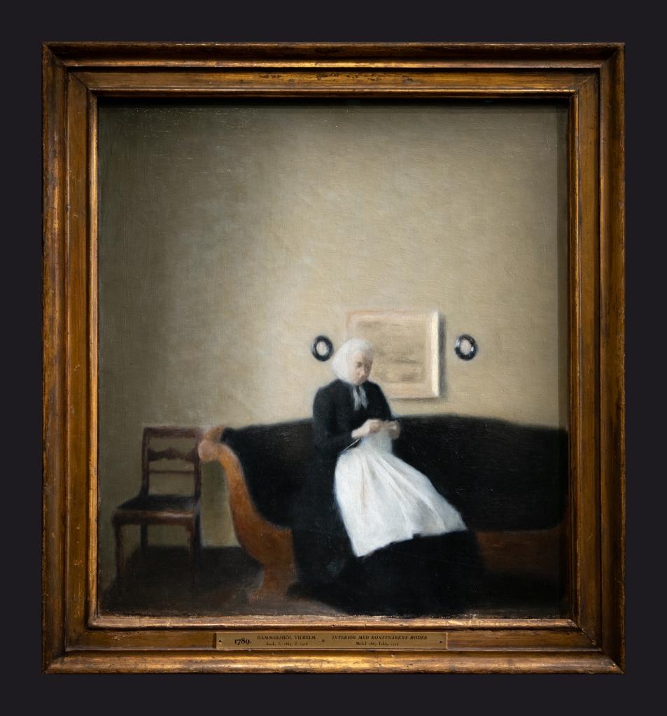 37 1889, Interieur avec la mere de l'artiste; Interior with the Artist's Mother by Leslie Hossack