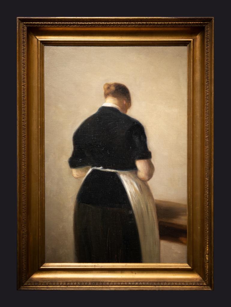 38 1884 1888, Etude de une femme debout, vue de dos by Leslie Hossack