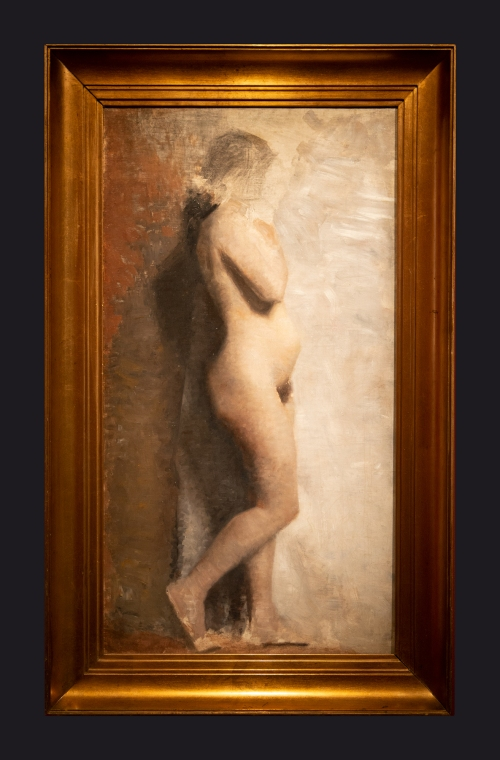43 1886, Nude Female Model In Profile by Leslie Hossack