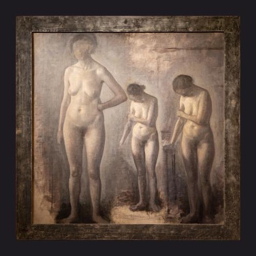 44 1909 1910, Three Studies of the Female Nude by Leslie Hossack