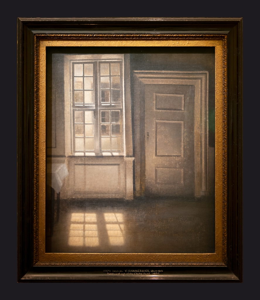 47 1906, Interieur, rayon de soleil sur le sol by Leslie Hossack