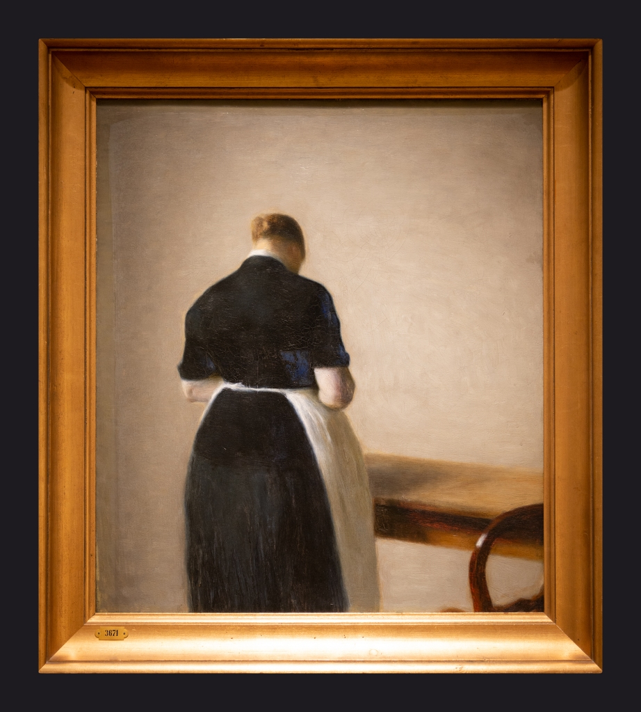 63 1888, Woman Seen from the Back. Figure of a Woman by Leslie Hossack
