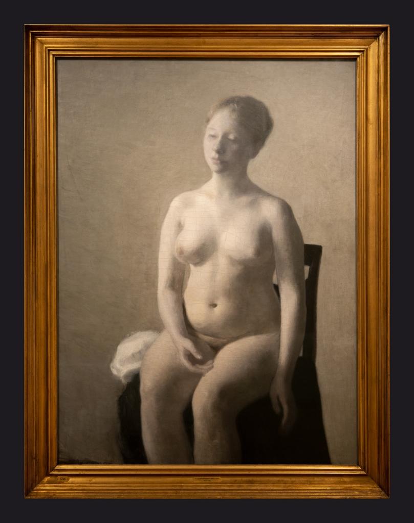 64 1889, Seated Female Nude by Leslie Hossack