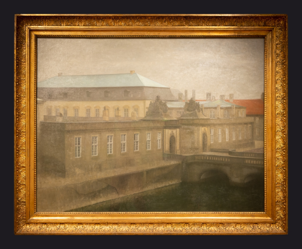 68 1890-1892 View of Christiansborg Palace Late Autumn by Leslie Hossack