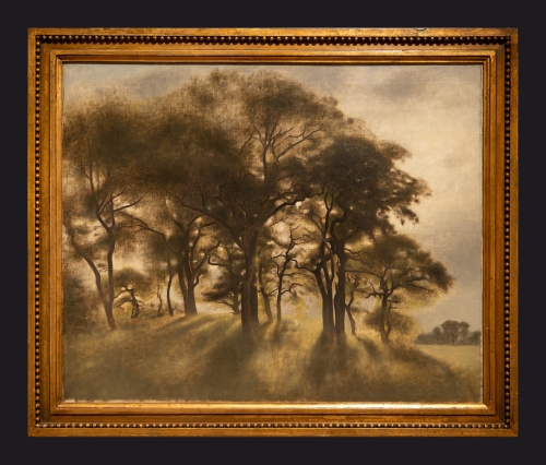 76 1901 Near Fortunen Jaegersborg Deer Park North of Copenhagen by Leslie Hossack