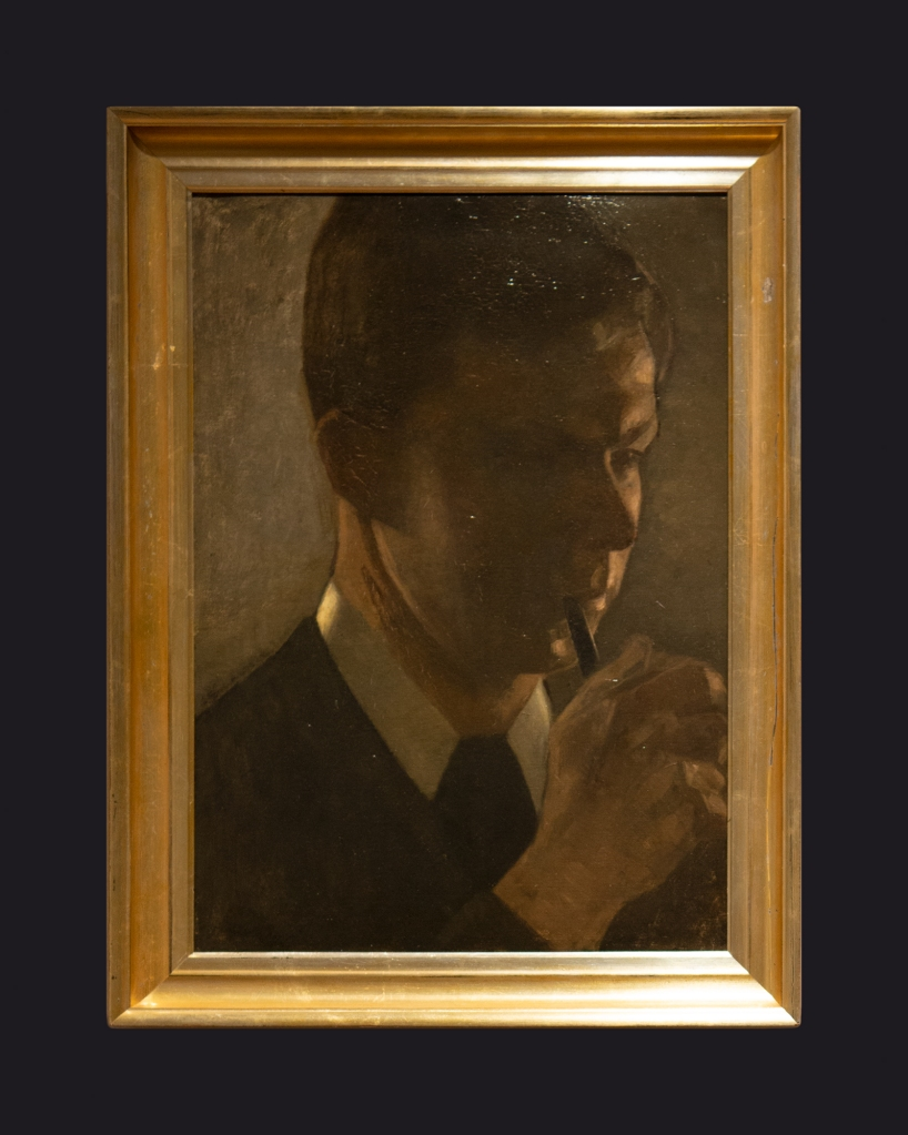 77 1901, Portrait of Svend Hammershoi, the Artist's Brother by Leslie Hossack
