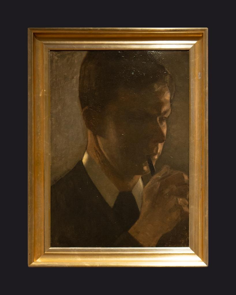 77 1901, Portrait of Svend Hammershoi, the Artist's Brother by Leslie Hossack