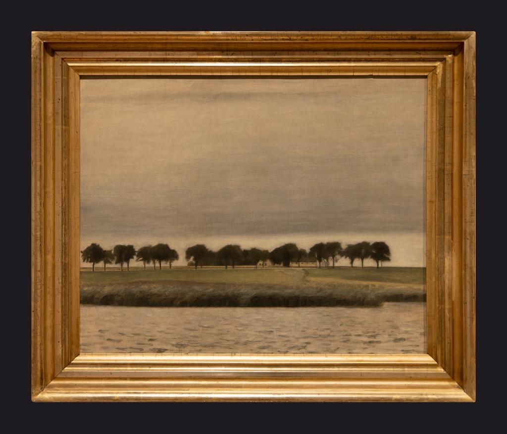 80 1903, Sunshower Gentofte Lake by Leslie Hossack