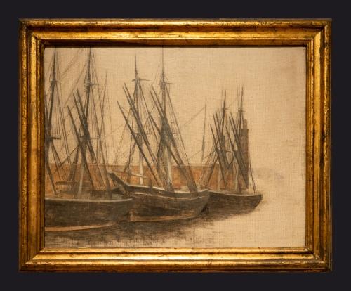 83 1905, From Christianshavn's Canal Copenhagen by Leslie Hossack