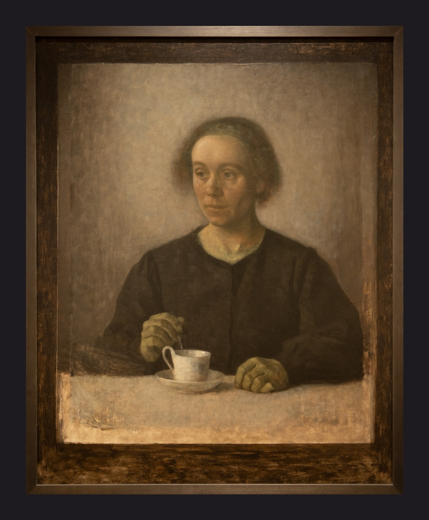 85 1907, Ida Hammershoi the Artist's Wife with a Teacup by Leslie Hossack