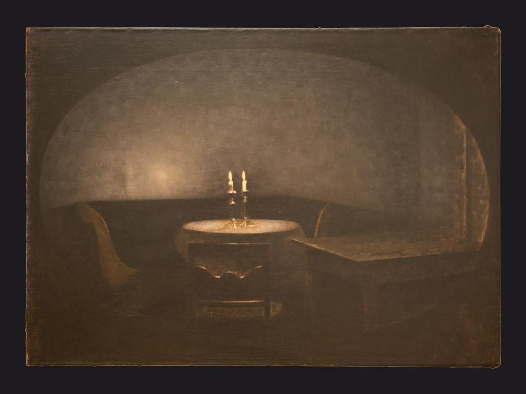 87 1909, Interior Artificial Light. Interiør. Kunstigt lys by Leslie Hossack