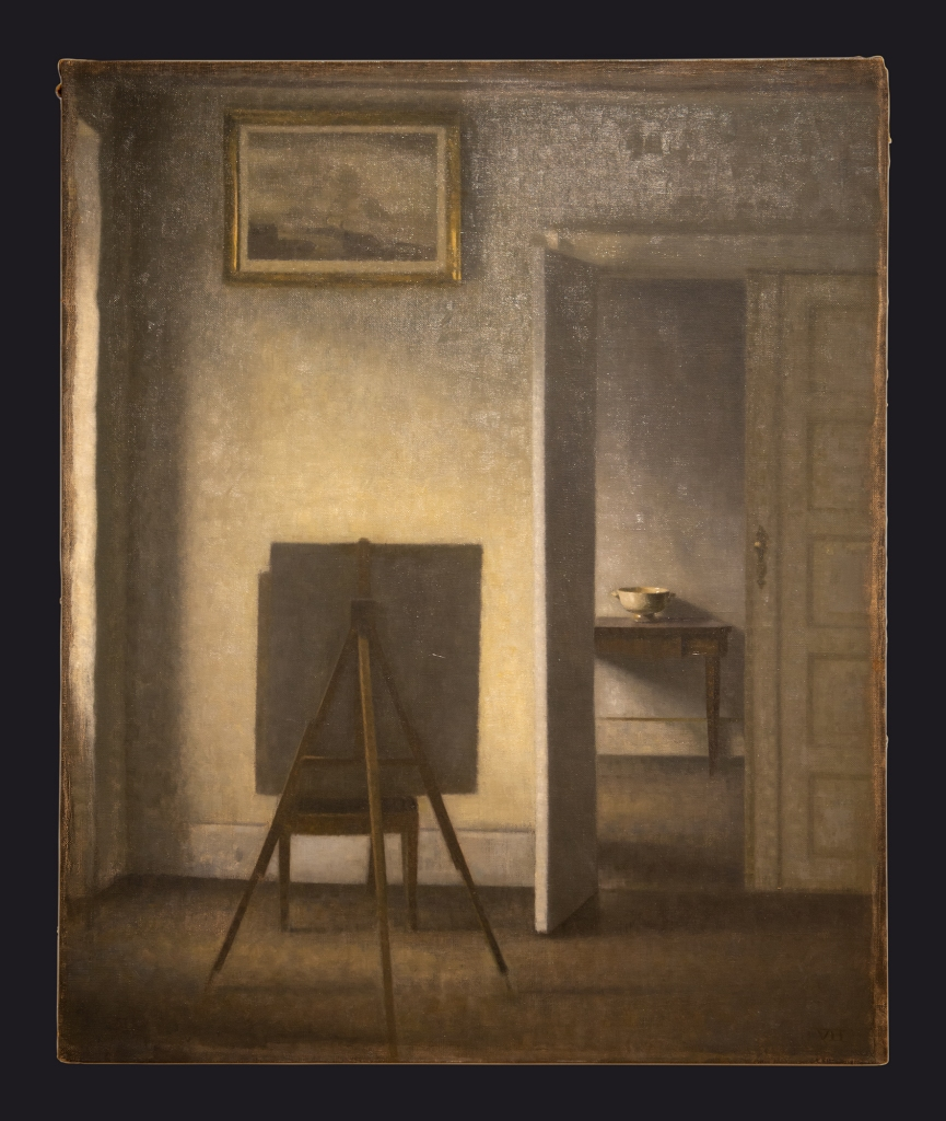 90 1910, Interior with the Artist's Easel by Leslie Hossack