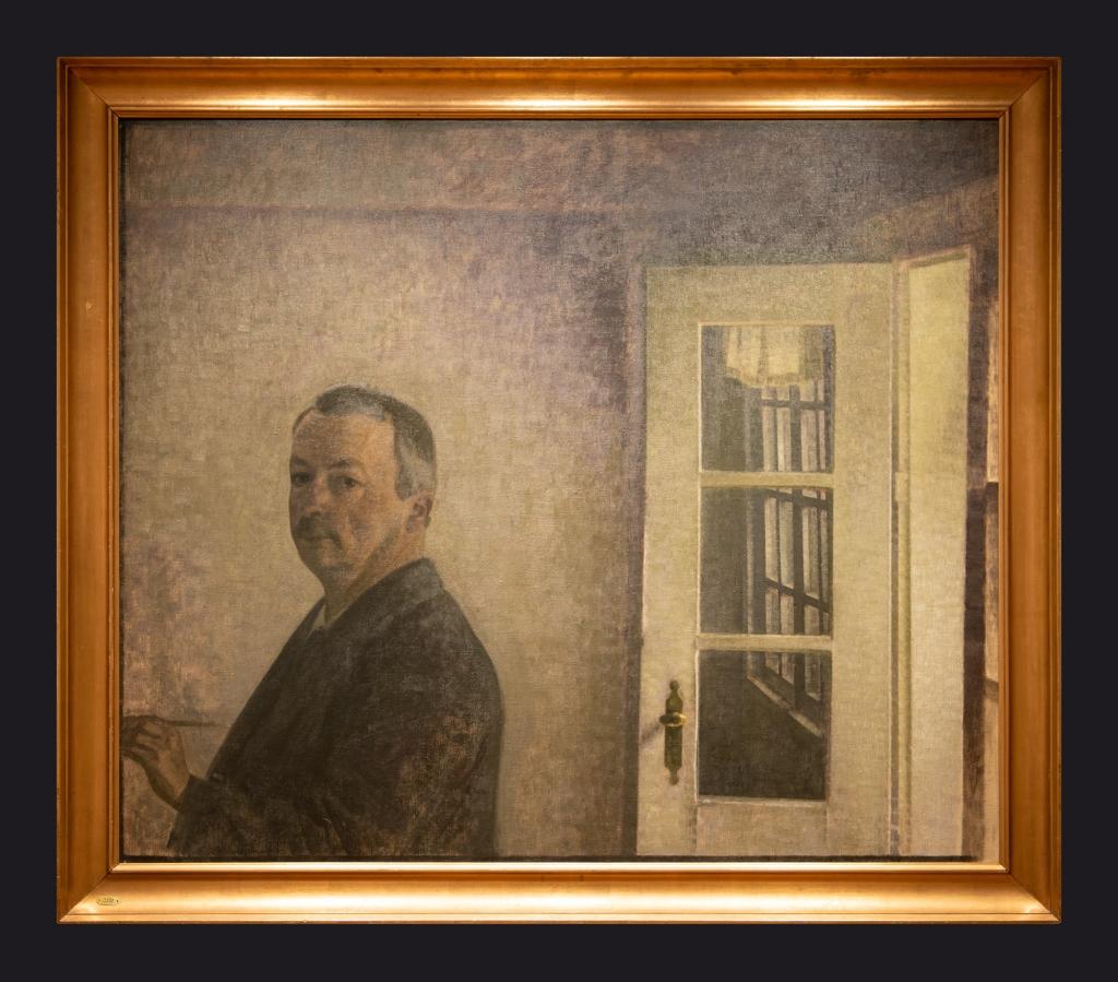 91 1911, Self Portrait, the Cottage Spurveskjul by Leslie Hossack