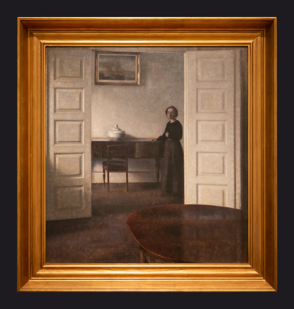 92 1911, Interior from Bredgade with the Artist's Wife by Leslie Hossack