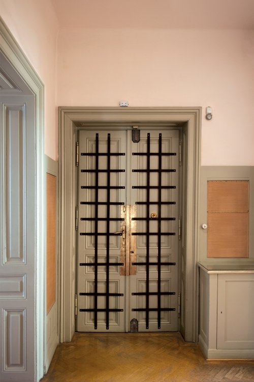 Barred Door in Vestibule, Freud's Office, Berggasse 19, Vienna 2016 by Leslie Hossack